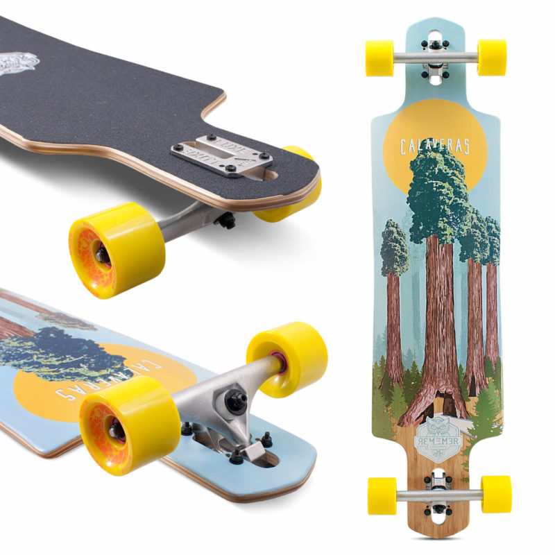 Remember Collective Calaveras Drop Thru Longboard 40""