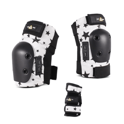 1-TRI Jr Pad Set Black Stars