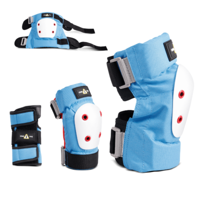 1-TRI Jr Max Comfort 2 Pack Combo Safety Gear Blue