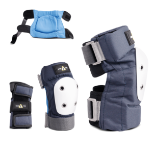 1-TRI Jr Max Comfort 2 Pack Combo Safety Gear Navy