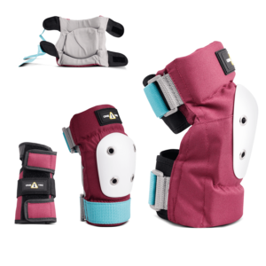 1-TRI Jr Max Comfort 2 Pack Combo Safety Gear Wine